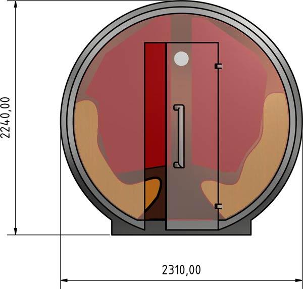 Radiazioni di calore ad infrarossi muro