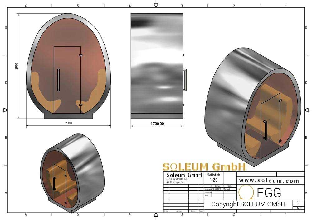 Soleum-EGG-Abmessungen